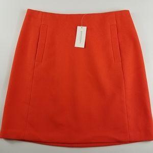 Banana Republic Orange Textured Skirt, 6